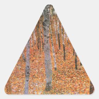 ブナ果樹園のカッコいい 三角形シール