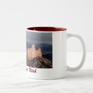 ブライス渓谷、ユタのマグ(第1) ツートーンマグカップ