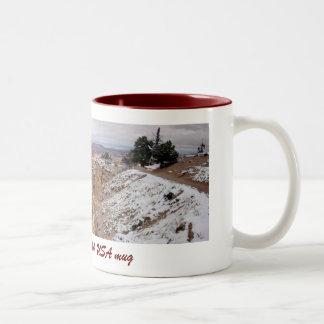 ブライス渓谷、ユタのマグ(第3) ツートーンマグカップ