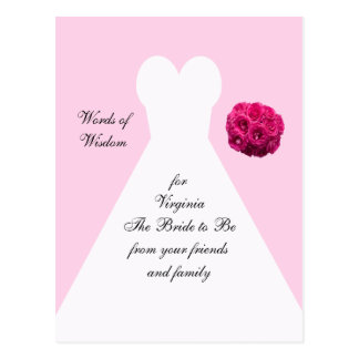 ブライダルシャワーのアドバイスの郵便はがき-花嫁衣装 ポストカード