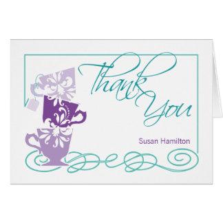 ブライダルシャワーのサンキューカード|の紫色 カード