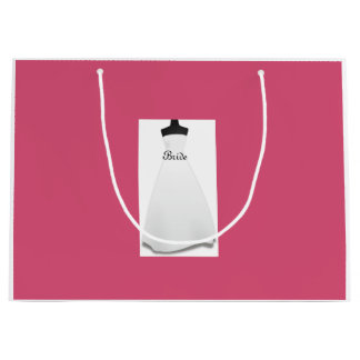ブライダルシャワーのスタイルの花嫁のウェディングドレスのギフトバッグ ラージペーパーバッグ