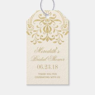 ブライダルシャワーのメッセージカード|の金ゴールドのヴィンテージの魅力 ギフトタグ