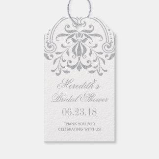 ブライダルシャワーのメッセージカード|の銀製のヴィンテージの魅力 ギフトタグ