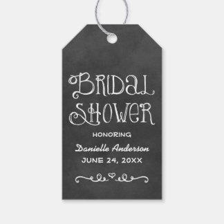 ブライダルシャワーのメッセージカード|の黒い黒板のチャーム ギフトタグ