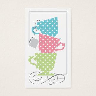 ブライダルシャワーのメッセージカード-茶 名刺
