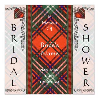 ブライダルシャワーの招待のSetonのタータンチェック カード
