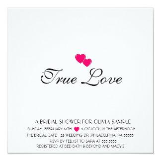ブライダルシャワーの招待状の本当愛 カード
