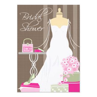 ブライダルシャワーの招待状ピンク および賢人 カード