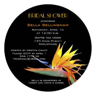ブライダルシャワーの招待状極楽鳥 カード