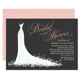 ブライダルシャワーの招待状|のエレガントな婚礼衣裳 カード