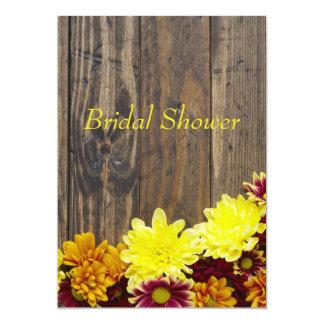 ブライダルシャワーの招待状--秋の結婚式 12.7 X 17.8 インビテーションカード