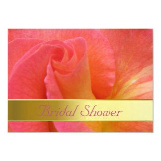"""ブライダルシャワーの招待状--""""謝肉祭""""は上がりました カード"""