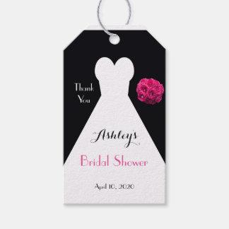 ブライダルシャワーの服およびバラは好意感謝していしています ギフトタグ