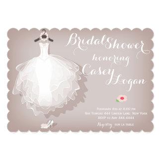 ブライダルシャワーの服の招待状 カード