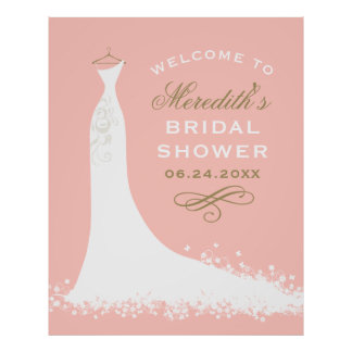 ブライダルシャワーの歓迎|のエレガントな婚礼衣裳 ポスター