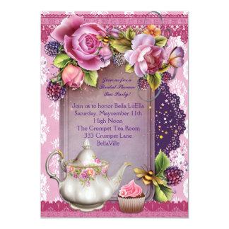 ブライダルシャワーの茶パーティの招待状 カード