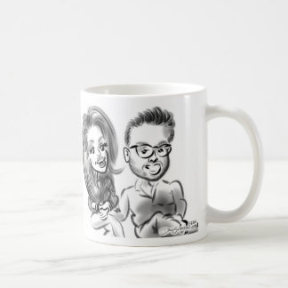 ブライダルシャワーの風刺漫画のマグ2014d コーヒーマグカップ
