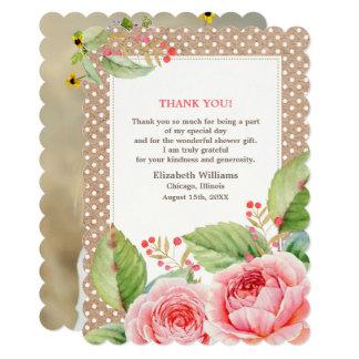 ブライダルシャワーはカスタムな写真カード感謝していしています カード