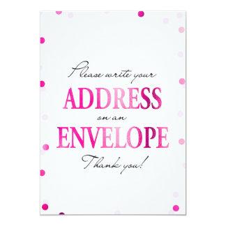 ブライダルシャワーは差出人住所の印感謝していしています カード