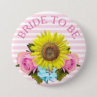 ブライダルシャワーボタンがある花嫁 7.6CM 丸型バッジ