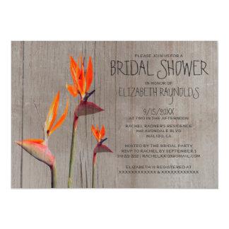 ブライダルシャワー招待状素朴な極楽鳥 カード