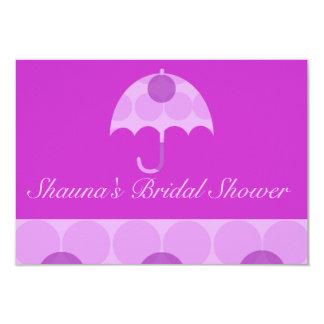 """""""ブライダルシャワー""""の-紫色の点々のあるな傘[a] カード"""