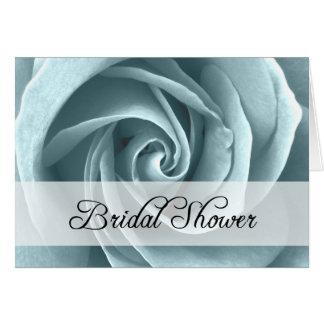 ブライダルシャワー: 青のバラ: カード