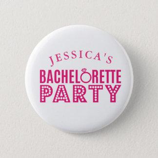 ブライダルパーティのピンクのバチェロレッテのバッジPin 缶バッジ