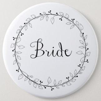 ブライダルパーティの同一証明の花嫁 15.2CM 丸型バッジ