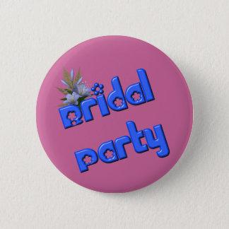 ブライダルパーティの花の花束ボタンPin 5.7cm 丸型バッジ