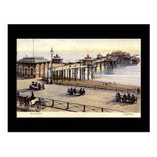 ブライトンの西桟橋、古い郵便はがき ポストカード
