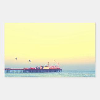 ブライトン桟橋、イギリス 長方形シール