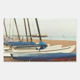 ブライトン、イギリスのボート 長方形シール