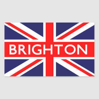 ブライトン: イギリスの旗 長方形シール