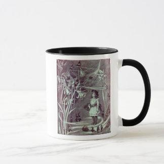 ブラウニーおよびラッパスイセンのアンティークのイラストレーション マグカップ