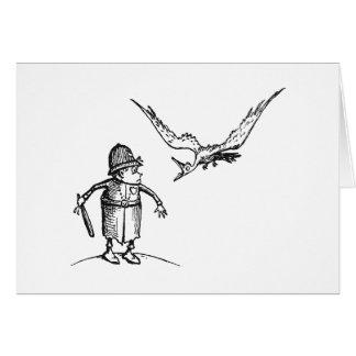 ブラウニーで急襲している鳥 カード