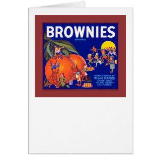 ブラウニーのブランドカリフォルニアオレンジ カード