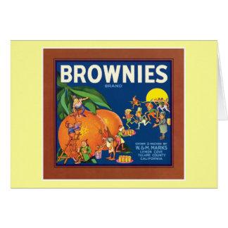 ブラウニーのヴィンテージのフルーツのラベル カード
