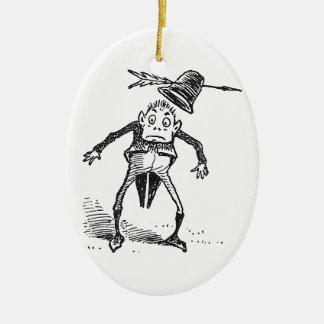 ブラウニーは矢に帽子を失います 陶器製卵型オーナメント