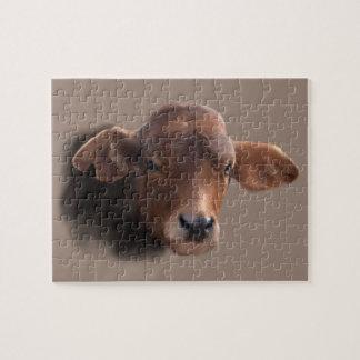 ブラウンあずき色の牛 ジグソーパズル