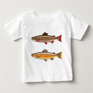 ブラウンおよびカワマス ベビーTシャツ