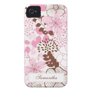 ブラウンおよびピンクの春の庭 Case-Mate iPhone 4 ケース