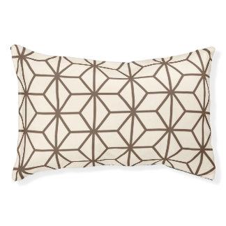 ブラウンおよびベージュ幾何学的な芸術decoパターン