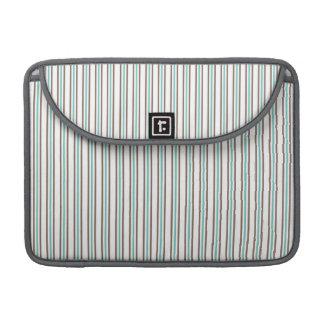 ブラウンおよび水Seafoamは縞で飾ります MacBooks 用スリーブ