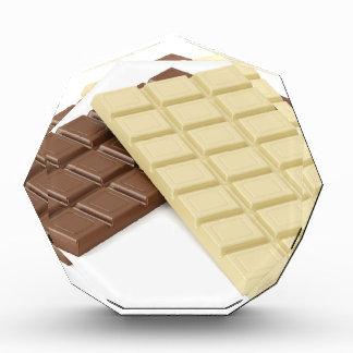 ブラウンおよび白いチョコレート・バー 表彰盾
