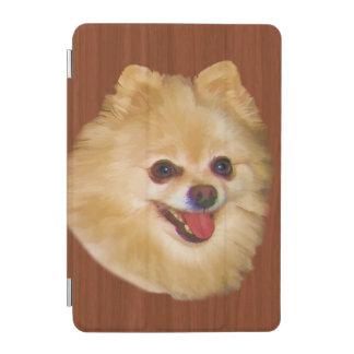 ブラウンおよび白いポメラニア犬犬 iPad MINIカバー