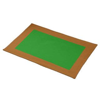 ブラウンおよび緑のランチョンマット ランチョンマット