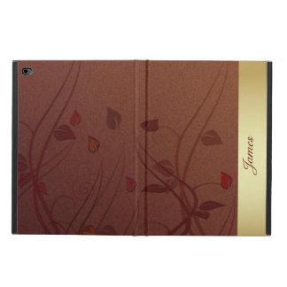 ブラウンおよび金ぱくのiPadは2箱を乾燥します Powis iPad Air 2 ケース