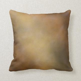ブラウンおよび金ゴールドの枕 クッション